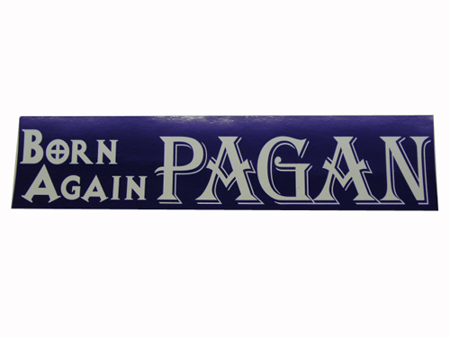 Autocolante Born Again Pagan