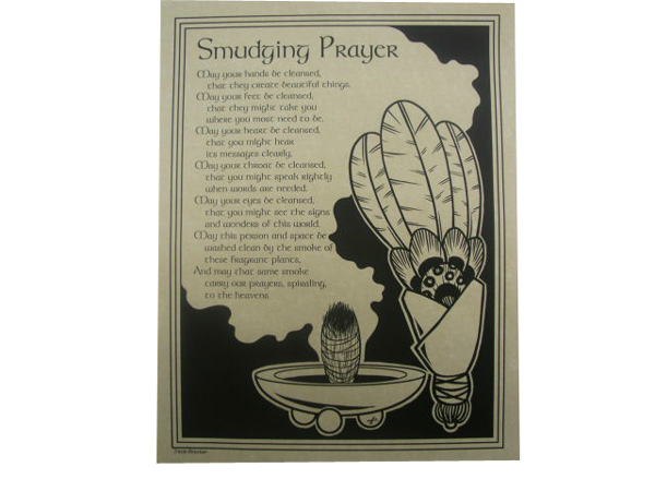 "Poster ""Smudging Prayer"""